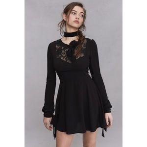 For Love & Lemons Ellery Mini Dress Black Size S